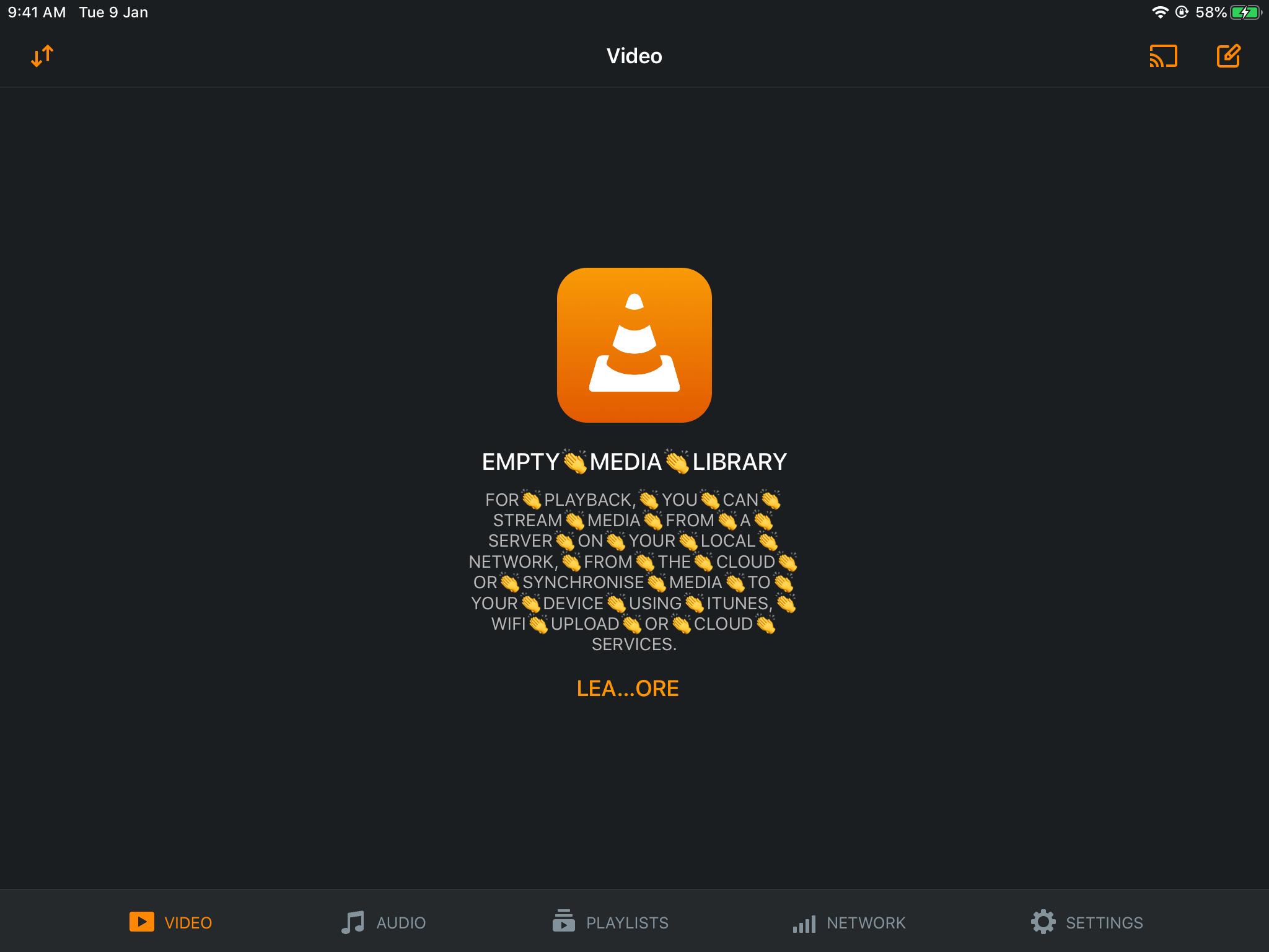 Tweaked VLC for iOS app